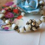 blanc fleur bracelet