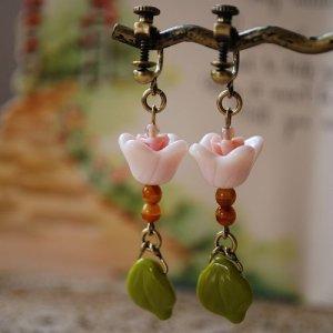 画像3: お花のイヤリング/ピアス